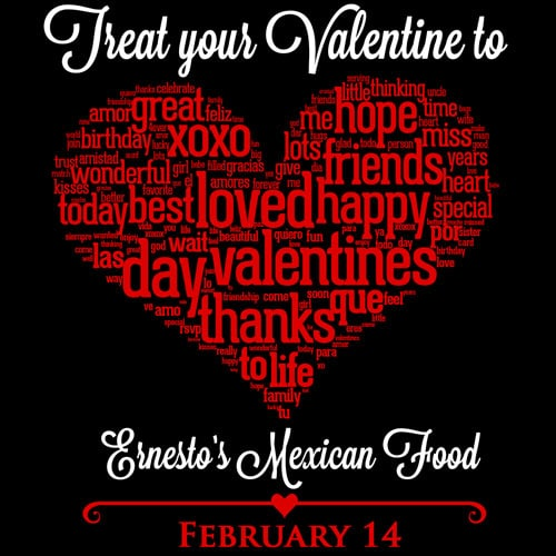 Ernesto's Mexican Food - Celebrate Valentines Day